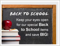 Keep your eyes open for our special Back to School items and save A LOT!